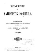 Monatshefte f  r Mathematik und Physik PDF