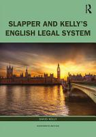 Slapper and Kelly s The English Legal System PDF