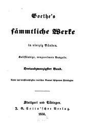 Sämmtliche Werke: in vierzig Bänden. Italiänische Reise. 1, Band 23
