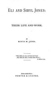 Eli and Sybil Jones Book