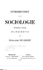 Introduction à la sociologie: pte. Elements