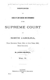 North Carolina Reports: Cases Argued and Determined in the Supreme Court of North Carolina, Volume 27