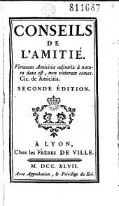 Conseils de l'Amitié ... [par l'abbé Jacques Pernetti]