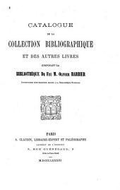 Catalogue de la collection bibliographique et des autres livres