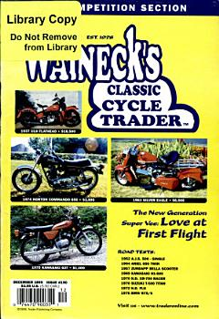 WALNECK S CLASSIC CYCLE TRADER  DECEMBER 1999 PDF