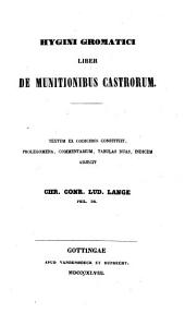 Hygini Gromatici Liber de munitionibus castrorum