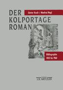 Der Kolportage Roman PDF