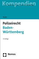 Polizeirecht Baden W  rttemberg PDF
