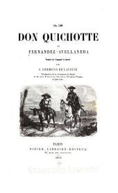 Le Don Quichotte de Fernández Avellaneda