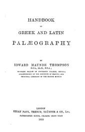 A Handbook of Greek and Latin Palaeography