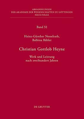 Christian Gottlob Heyne PDF