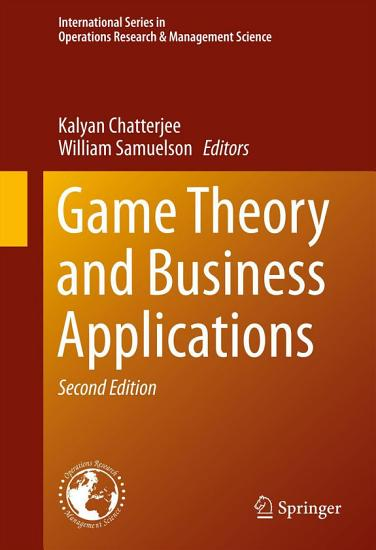 Game Theory and Business Applications PDF