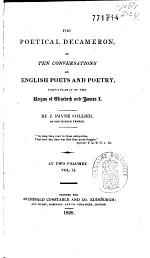 The Poetical Decameron Or the Conversations on English Poets and Poetry