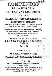 Compendio de la historia de las variaciones de las iglesias protestantes
