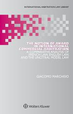 The Notion of Award in International Commercial Arbitration