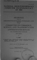 National High Performance Computer Technology Act of 1989 PDF