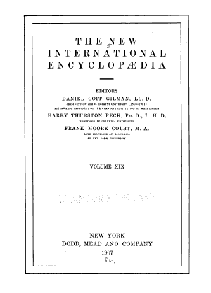 The New International Encyclopædia