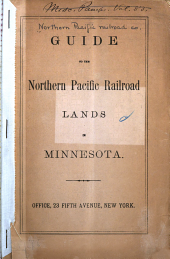 Guide to the Northern Pacific Railroad Lands in Minnesota