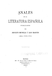 Anales de la literatura española