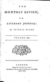 THE  MONTHLY REVIEW; OR,LITERARY JOURNAL