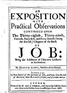An Exposition with Practical Observations continued upon the thirty eighth  thirty ninth  fortieth  forty first  and forty second     chapters of the Book of Job  being the substance of fifty two lectures  etc   With the text   PDF