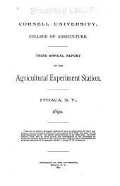 Report of the Cornell University Agricultural Experiment Station