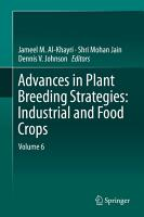 Advances in Plant Breeding Strategies  Industrial and Food Crops PDF