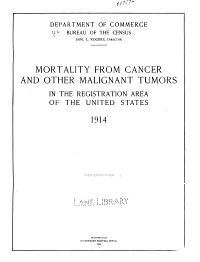 Mortality from cancer and other malignant tumors in the registration area of the United States  1914 PDF