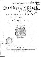 Königlich-Bayerisches Intelligenz-Blatt des Unterdonau-Kreises: 1832
