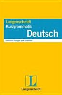 Langenscheidt  Kurzgrammatik Deutsch PDF
