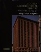 Modern Architectural Theory PDF