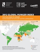 2012 Global Hunger Index: The challenge of hunger: Ensuring sustainable food security under land, water, and energy stresses