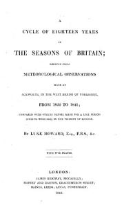 A cycle of Eighteen years in the Seasons of Britain  deduced from meteorological observations