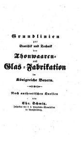 ¬Die Thonwaaren- und Glasfabrikation