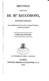 Oeuvres complètes de Mme. Riccoboni: Les lettres de mistriss Fanni Butlerd