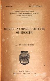 Geology and Mineral Resources of Mississippi