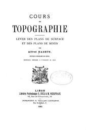 Cours de topographie: lever des plans de surface et des plans de mines