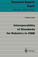 Interoperability of Standards for Robotics in CIME