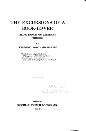 The Excursions of a Book-lover: Being Papers on Literary Themes