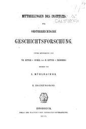 Mitteilungen des Instituts für Österreichische Geschichtsforschung: Ergänzungsband, Band 2