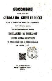 Orazione del beato Girolamo Gherarducci detta in Recanati la domenica 11 di quaresima 24. febbrajo 1850