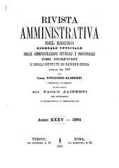 Rivista amministrativa della Repubblica italiana: Volume 35