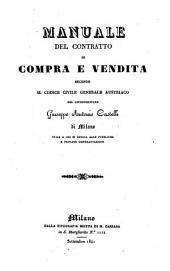 Manuale del contratto di Compra e vendita secondo il codice civile generale austriaco