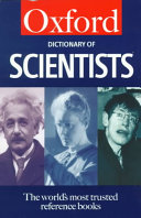 Download A Dictionary of Scientists Book