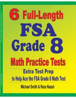 6 Full Length FSA Grade 8 Math Practice Tests PDF