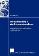 Entrepreneurship in Wachstumsunternehmen PDF