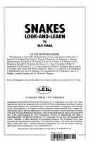 Basic Book of Snakes Look and Learn PDF