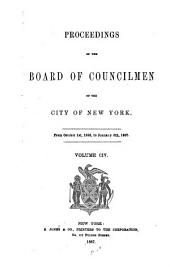 Proceedings of the Board of Councilmen of the City of New York: Volume 104
