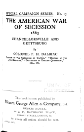 The American War of Secession, 1863: Chancellorsville and Gettysburg