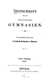 Zeitschrift für die österreichischen Gymnasien: Band 4